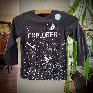 Carter's Long Sleeve Graphic Crewneck Space Tee 5T